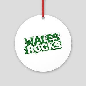 Wales Rocks Ornament (Round)