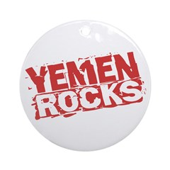 Yemen Rocks Ornament (Round)