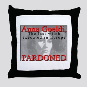 Witch PARDONED by Govt Throw Pillow