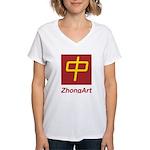 ZhongArt Women's V-Neck T-Shirt