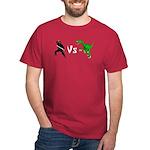 Ninja vs Velociraptor T-shirt (Dark)