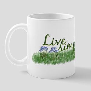 Live Simply (Flowers) Mug