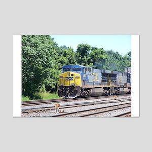CSX Q190 Doublestack Train Mini Poster Print