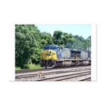 CSX Q190 Doublestack Train Mini Poster Print