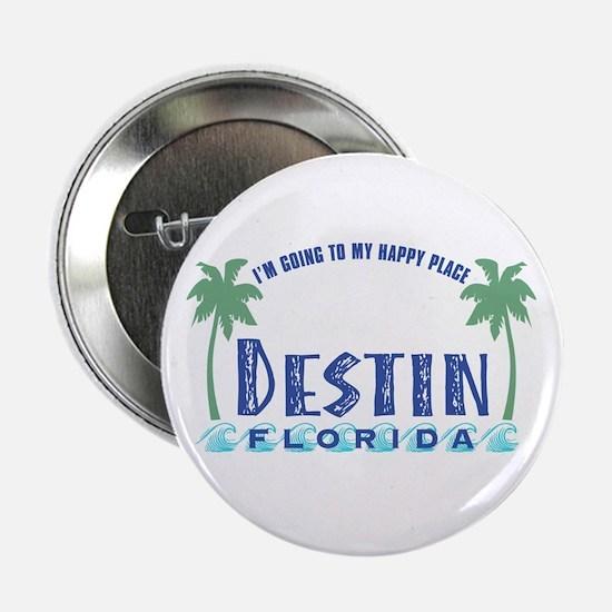 """Destin Happy Place - 2.25"""" Button"""