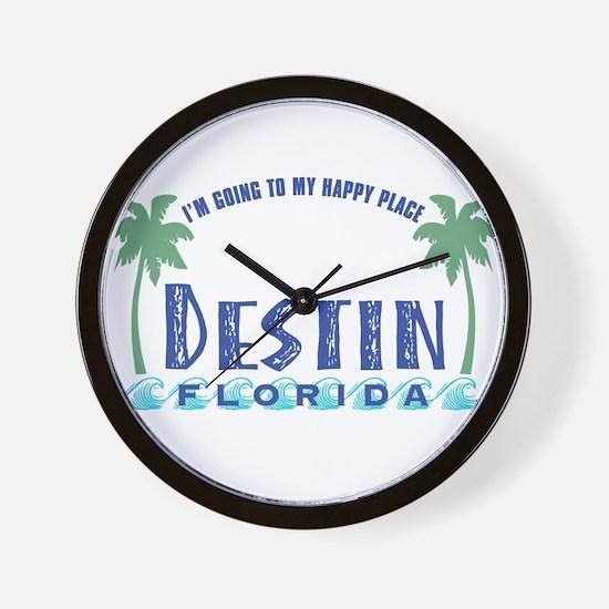 Destin Happy Place - Wall Clock