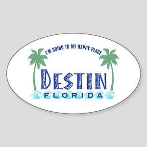 Destin Happy Place - Oval Sticker