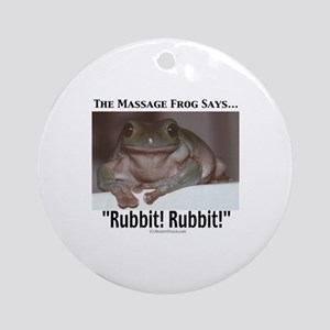 Massage Frog Keepsake (Round)