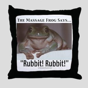 Massage Frog Throw Pillow