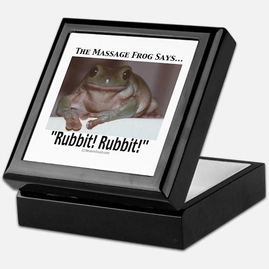 Massage Frog Keepsake Box