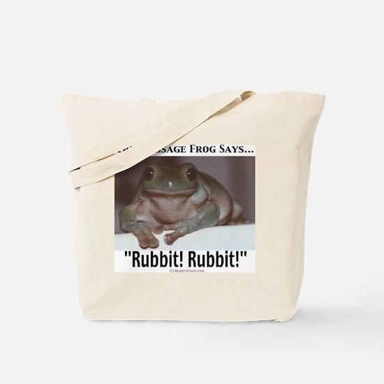 Massage Frog Tote Bag