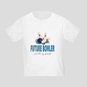 Future Bowler Like Grandpa Toddler T-Shirt