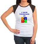 I swim therefore IM Women's Cap Sleeve T-Shirt