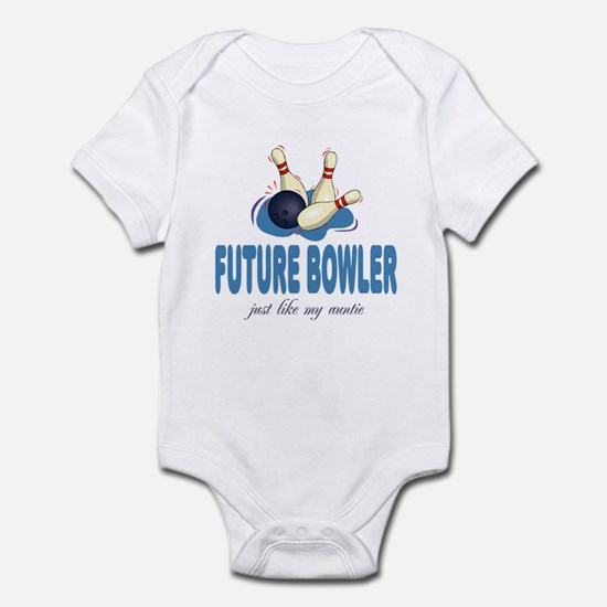 Future Bowler Like Auntie Baby Infant Bodysuit
