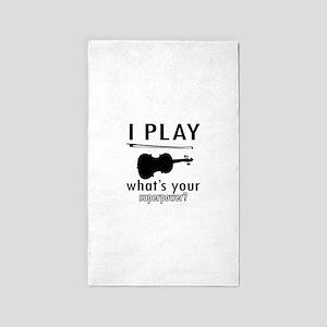 I play Violin Area Rug