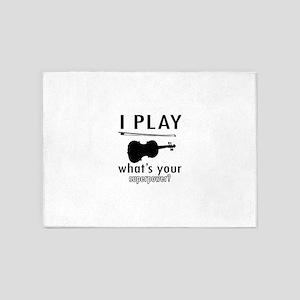 I play Violin 5'x7'Area Rug