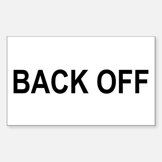 BACK OFF Rectangle Decal