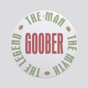 Goober Man Myth Legend Ornament (Round)