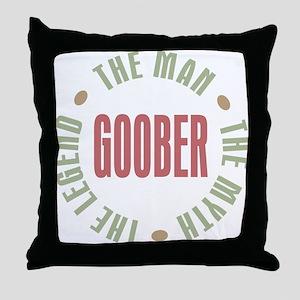 Goober Man Myth Legend Throw Pillow