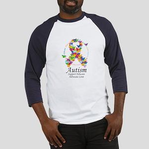 Autism Butterfly Ribbon Baseball Jersey