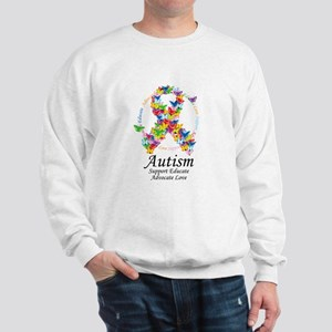 Autism Butterfly Ribbon Sweatshirt