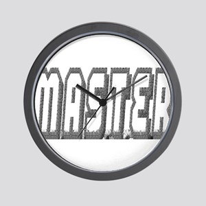 MASTER--OUTLINED IN GREY Wall Clock