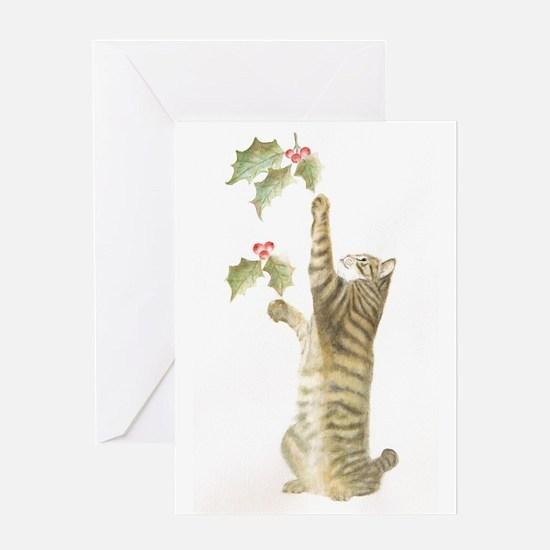 Reaching for Mistletoe Card