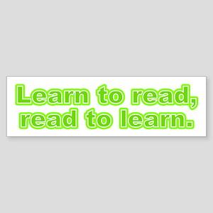 Learn and Read Bumper Sticker