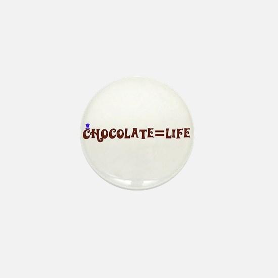 Chocolate=Life Mini Button