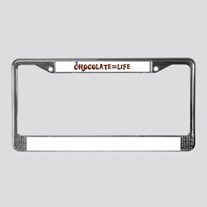 Chocolate=Life License Plate Frame