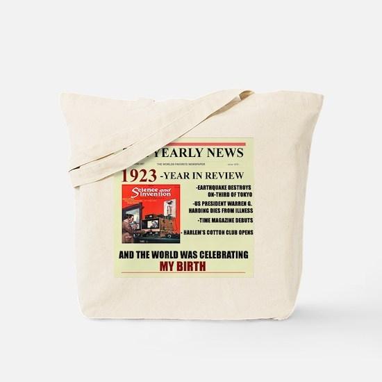 born in 1923 birthday gift Tote Bag