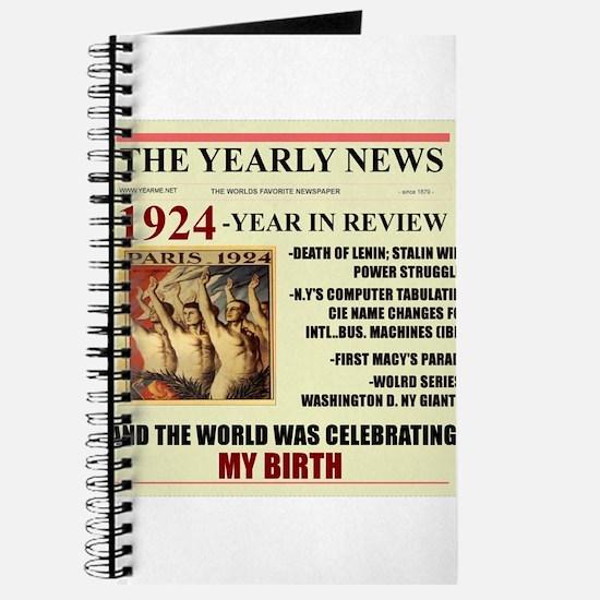 born in 1924 birthday gift Journal