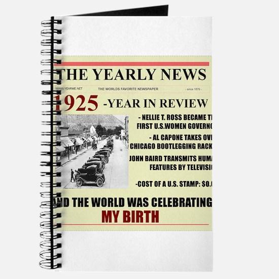 born in 1925 birthday gift Journal