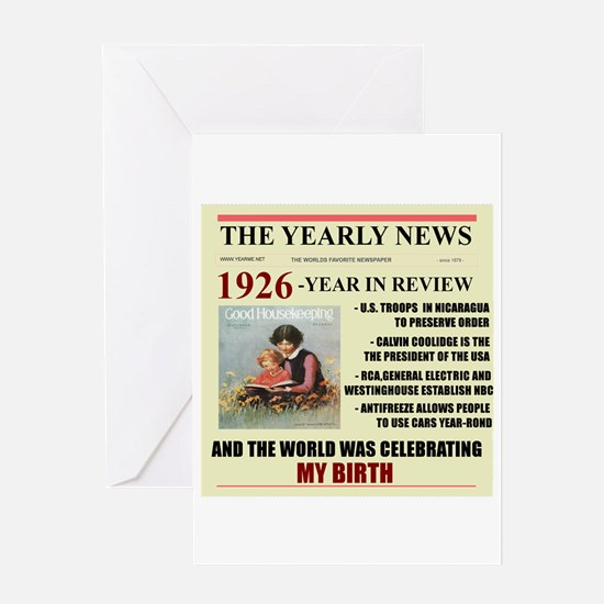 Born In 1926 Birthday Gift Card Greeting Cards