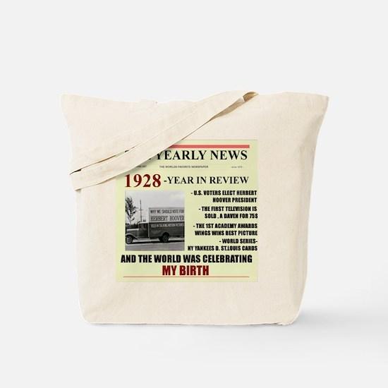 born in 1928 birthday gift Tote Bag