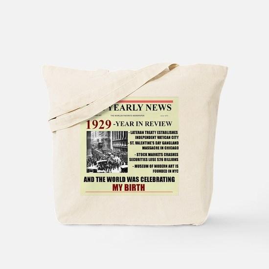 born in 1929 birthday gift Tote Bag