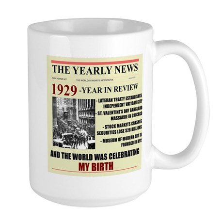 Born In 1929 Birthday Gift Large Mug Mugs
