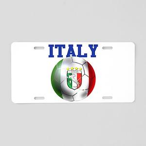Italy Soccer Ball Aluminum License Plate