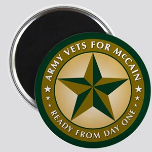 Army Vets for McCain Magnet
