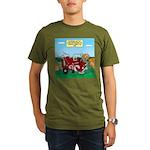 Campsite Compactor Organic Men's T-Shirt (dark)