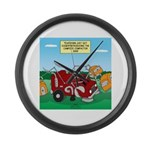Campsite Compactor Large Wall Clock