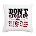 Donald Trump Card Square Canvas Pillow