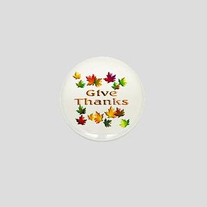 Give Thanks Mini Button