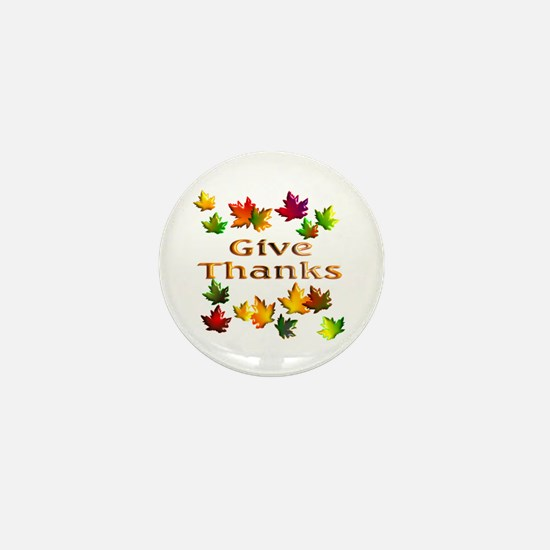 Give Thanks Mini Button