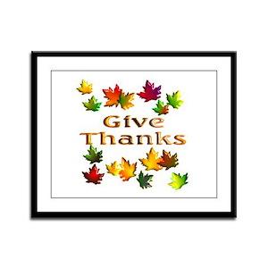 Give Thanks Framed Panel Print