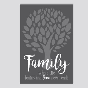 Family Where Life Begins Postcards (Package of 8)