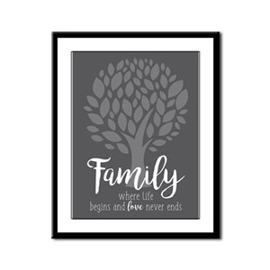 Family Where Life Begins Framed Panel Print