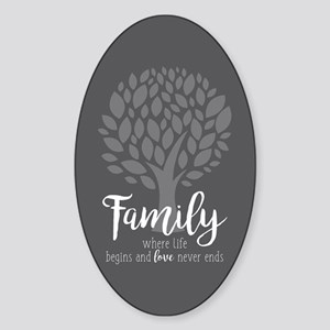 Family Where Life Begins Sticker (Oval)