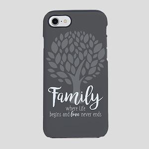 Family Where Life Begins iPhone 7 Tough Case