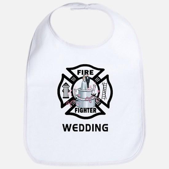 Firefighter Wedding Cake Bib
